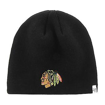 47 العلامة التجارية Knit Beanie -- الشتاء شيكاغو بلاك هوكس الأسود