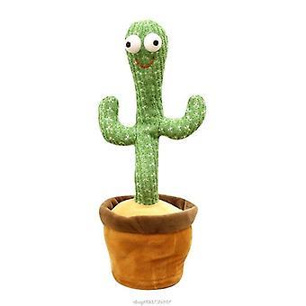 Grappige 32cm elektrische dansen plant cactus pluche gevulde speelgoed met muziek voor kinderen kinderen geschenken thuis