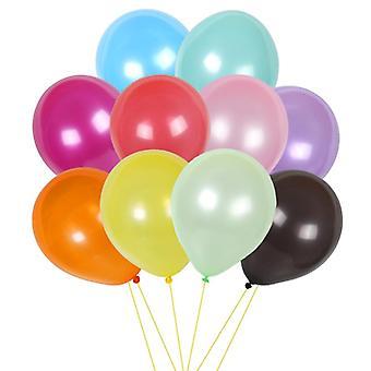 100Pcs 10inch צבע טהור פנינה לטקס בלונים מתנפחים חתונה קישוט כדורי אוויר ב 15 צבעים שמח יום הולדת מסיבת אספקה