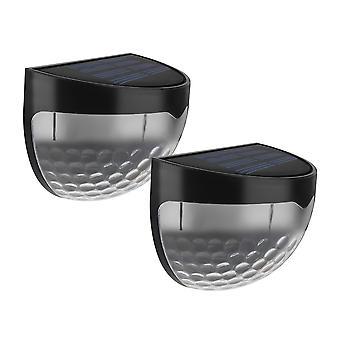 Outdoor Solarlampe, mit Sternlichtern, Solarzaun Licht, Innen und Außen mit automatischer Erkennung Solarlampe für Weg, Garten, Treppe - 2pcs