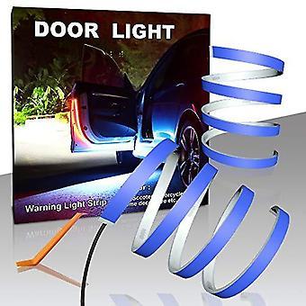 أضواء Led باب السيارة، 2 حزمة 1.2m تحذير الباب مرنة أدى شرائط الديكور أنبوب الخفيفة، تيار تشغيل فلاش الأحمر والأبيض 6k خطوة أضواء مكافحة كول