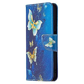 Xiaomi Poco M3 Fall Muster Gold Schmetterling