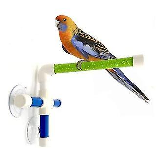 Suction Cups Pet Birds Parrots Bathing Bar Shower Standing Platform Paw Grinding Bracket Station