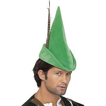 רובין הוד כובע ירוק עם נוצה דלוקס