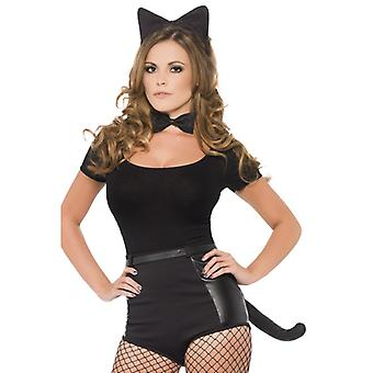 Kattene angi sort pels, ører, hale og fly