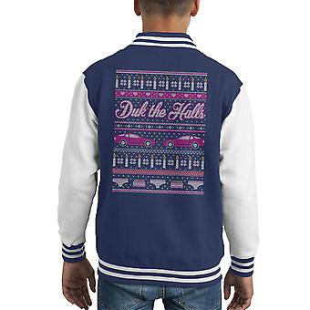 Sixteen Candles Duk The Halls Christmas Knit Pattern Kid's Varsity Jacket