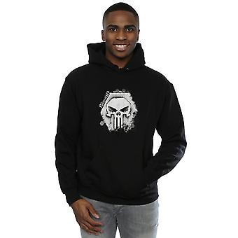 Marvel Men's Punisher Skull Badge Hoodie