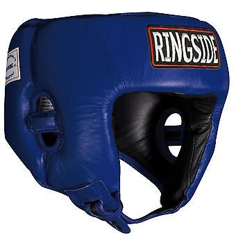 Ringside konkurranse boksing hodeplagg uten kinn - blå