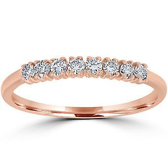 Diamond Wedding Ring 14K Rose Gold