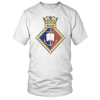 Royal Navy HMS Wales Mens T-skjorte