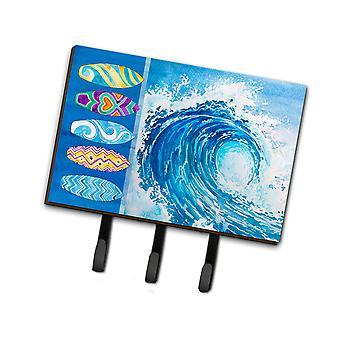 Carolines Schätze BB8528TH68 Surfbretter und Welle Leine oder Schlüsselhalter