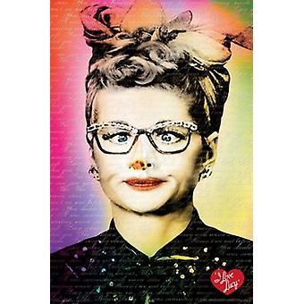 I Love Lucy - okulary plakat Poster Print