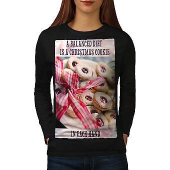 Cookie Diet Christmas Women BlackLong Sleeve T-shirt | Wellcoda