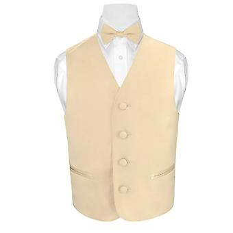 BOY'S Dress Vest & BOW TIE Solid Bow Tie Set