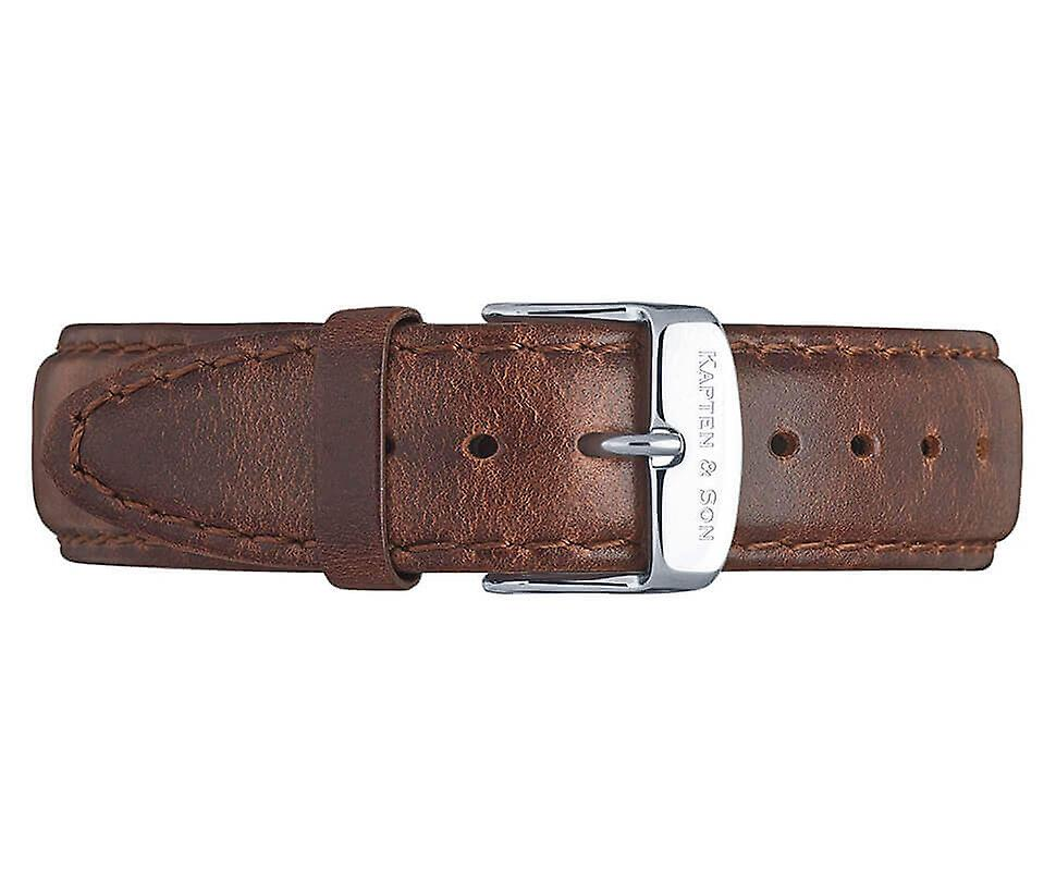 Truncated and Son Silver Brown Leather 4251145214531 Campus