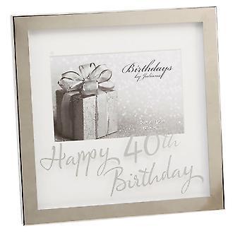 Widdop Birthdays By Juliana Happy 40th Birthday Mirror Print Box Frame