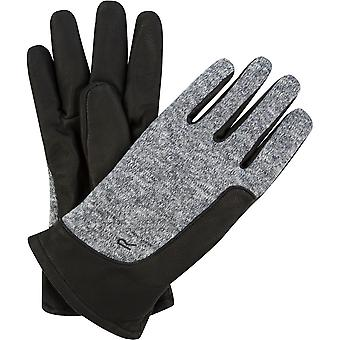 Regatta Mens Gerson Polyester Knit Effect Fleece Leather Gloves