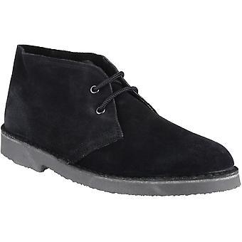 Cotswold Mens Sahara lacets en cuir suédé doublé Desert Boot noir