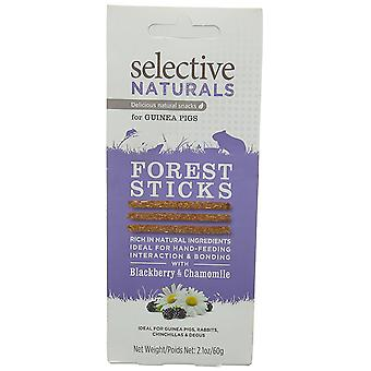 Selective Naturals Forest Sticks Treats for Guinea Pigs with Blackberry and Chamomile