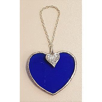 Small Dark Blue Heart Heart by Simmerdim Design
