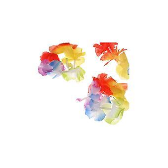 Pulsera/tobillera de collares de flores (2)