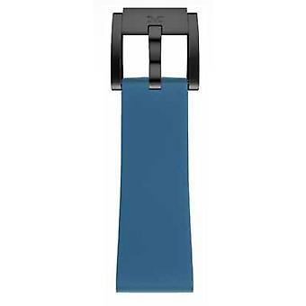 TW Steel Marc Coblen Bracelet Watch band silicone 22 MM blue SB_BL_B