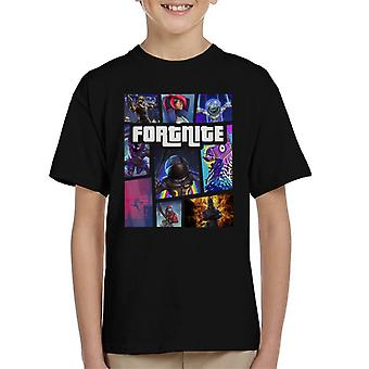 Camiseta Fortnite Grand Theft Auto infantil