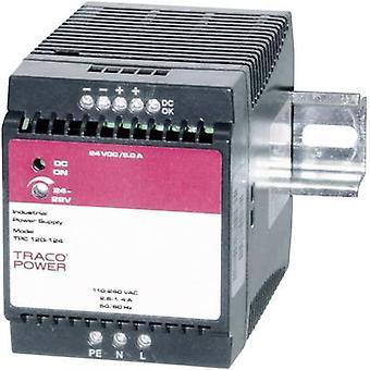 TracoPower TPC 120-124 Binario montato PSU (DIN) 24 V DC 5 A 120 W 1 x