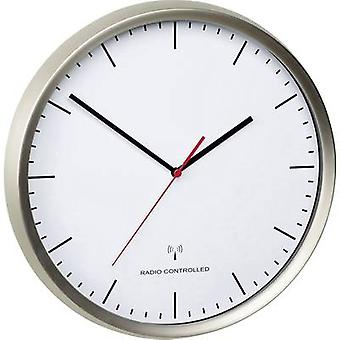 TFA Dostmann 60.3521.02 Radio Wall clock 30.5 cm x 4.8 cm Stainless steel (brushed) Noiseless movement