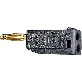 Stäubli SLS425-AM Straight blade plug Plug, straight Pin diameter: 4 mm Violet 1 pc(s)