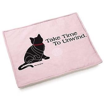 El gato es gato buena alfombra rosa