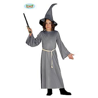 Fantasia de assistente para crianças de mágico medieval fantasia infantil de Halloween