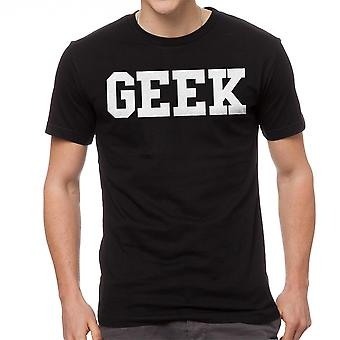 Geek Quote Graphic Men's Black T-shirt