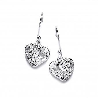 Cavendish francese cuore a cuore in argento orecchini