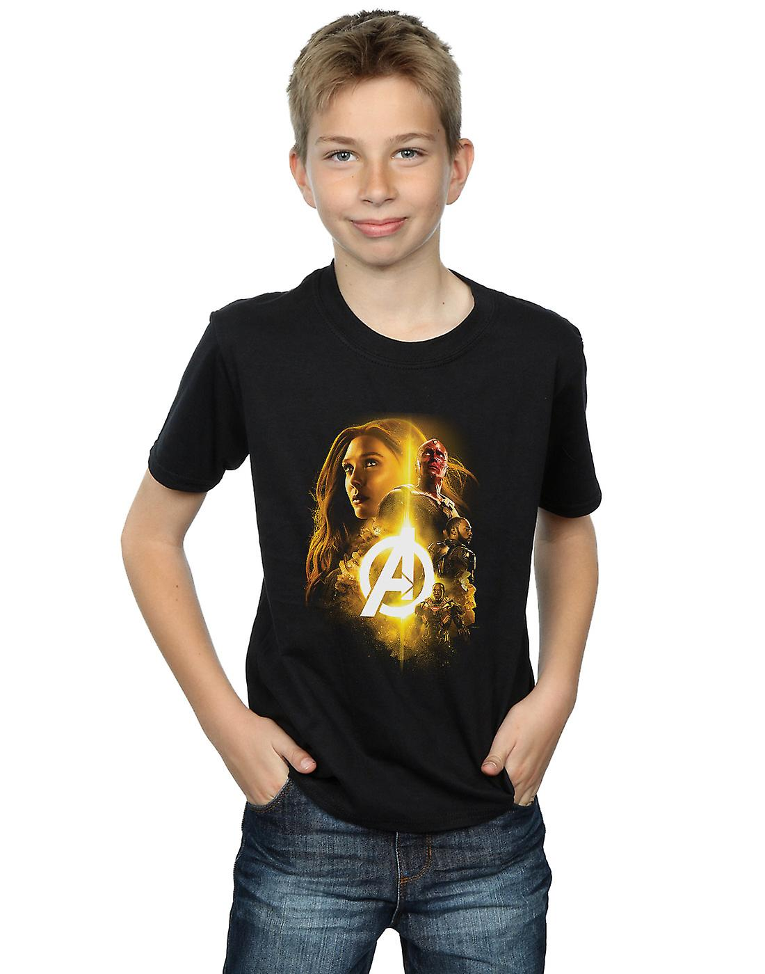 Marvel Boys Avengers Infinity War Vision Witch Team Up T-Shirt