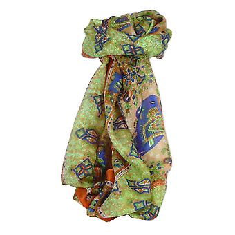 Classic Paisley Long Scarf Mulberry Silk Golla Marigold by Pashmina & Silk