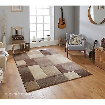 Portland Blocks Brown Rug