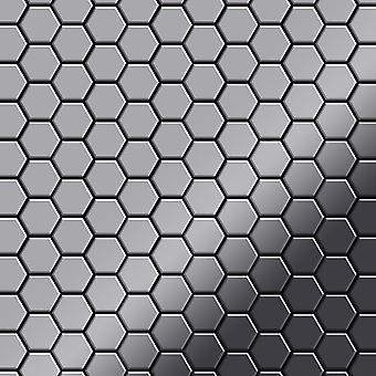 Mozaïek van massief metaal Edelstaal ALLOY Honey-S-S-MM