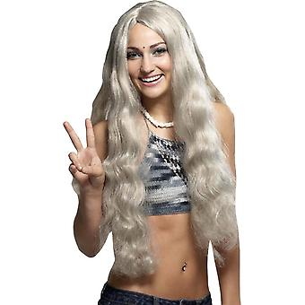 Hippie Gray Wig For Women