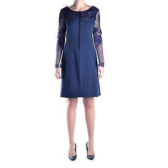 Gianfranco Ferré Ezbc105003 Women's Blue Silk Dress