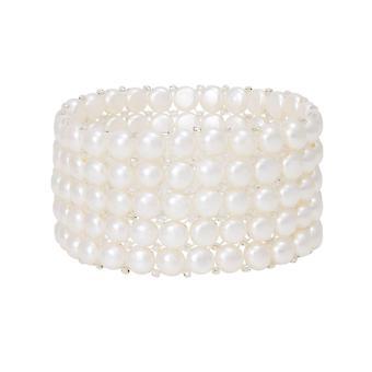 Evig samling hvit ferskvann perle Stretch armbånd