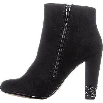 Xoxo Womens Yardley Fabric Closed Toe Ankle Fashion Boots