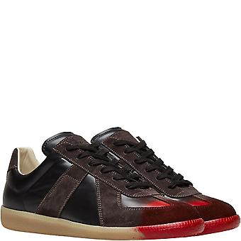 Maison Margiela Replica Red Painted Toe Sneakers Brown