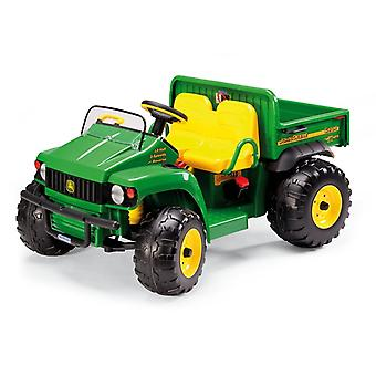 John Deere 12V Gator HPX Kids Electric Tractor Two Seater Green/Yellow-Peg