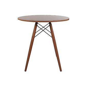 Fusion Living Eiffel Ispirato Piccolo Tavolo Da pranzo circolare noce con gambe di legno di noce