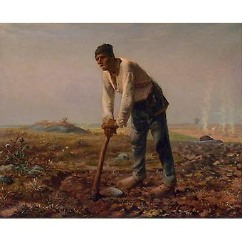 The man with the Cut, Jean Francois Millet, 50x40cm