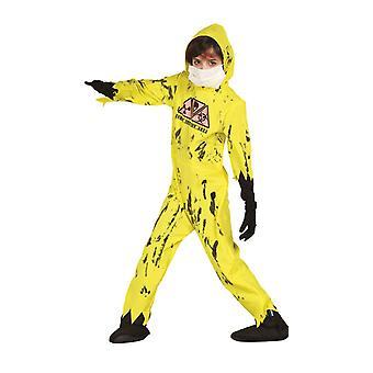Boys Nuclear Zombie Halloween Fancy Dress Costume