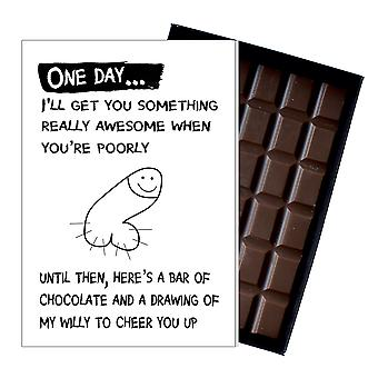 Get Well Soon Gift for Women Who's Ill Rude Boxed Chocolate Greeting Card Present for Her OD121