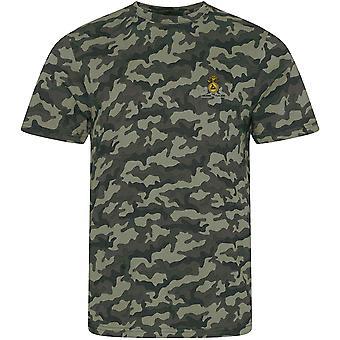 Lancashire Fusiliers-lisensiert britiske hæren brodert camouflage print T-skjorte