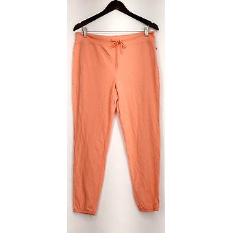 xhilaration Lounge Pants Knit Pull On Solid Orange Womens